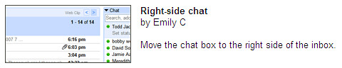 Right-side chat