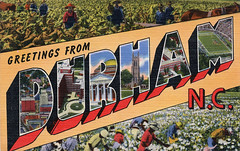 Greetings from Durham, North Carolina - Large Letter Postcard (Shook Photos) Tags: black durham linen farm postcard negro farming northcarolina cotton postcards africanamerican greetings agriculture tobacco linenpostcard bigletter durhamnorthcarolina largeletter pickingcotton largeletterpostcard linenpostcards largeletterpostcards bigletterpostcard bigletterpostcards