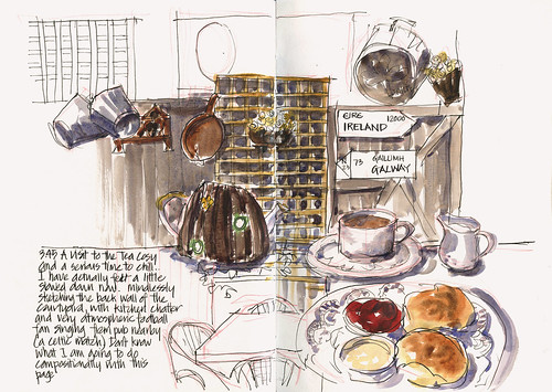 110702_04 PreTrip Sketching Day - The Tea Cosy tearoom
