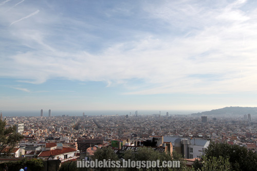 barcelona city view from park guell