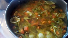 Vegetable Soup with Bow Ties and Dill Soup (Wendy Cooper) Tags: dill recipe soup vegetable carrots celery shallot 2011 thecookingblog