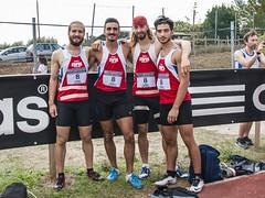 La 4x100 uomini: Andrea Corradini, Marco Vescovi, Lorenzo Angelini, Dennis Marinelli