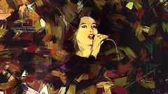 Lead Singer (folk orchestra Ely Neri) (Marchese di Pbol) Tags: postproduction modern digital art exhibition girl performance live womens artdigital phtosgrpheinartist fineart digitalpainting digitalart pretty photomelange
