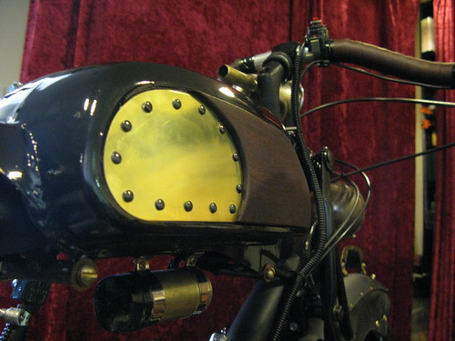Brass, Wood, and Rivet Sidepanel/Knee pad