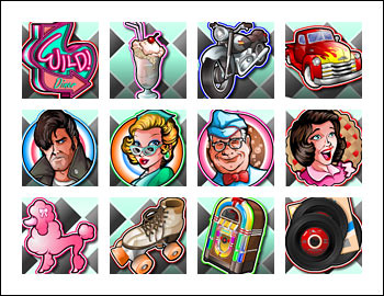 free Doo Wop Daddy O slot game symbols