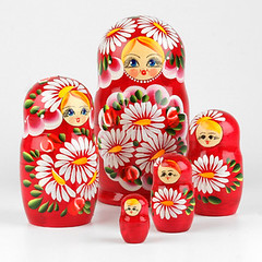 Bouquet of Daisies Red Nesting Doll (The Russian Store) Tags: matrioshka matryoshka russiannestingdolls  stackingdoll  russianstore  russiangifts  russiancollectibledolls shoprussian