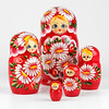 Bouquet of Daisies Red Nesting Doll (The Russian Store) Tags: matrioshka matryoshka russiannestingdolls кукла stackingdoll русская russianstore матрешка russiangifts русскиймагазин russiancollectibledolls shoprussian русскиеигрушки русскиеподарки русскиесувениры