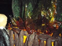 Luke watching Darth burn (atashinokoe) Tags: modeling chocolate flames sugar funeral darth vader pyre