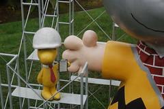 Woodstock's Check List (earthdog) Tags: 2011 travel peanuts undercontruction art publicart statue tivolotoo woodstock animal bird charliebrown sculpture needscamera needslens charlesmschulzmuseum santarosa vacation