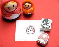 Unazukin hand carved rubber stamps