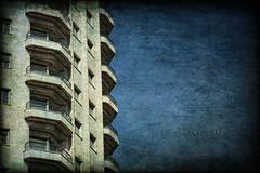 Balcones de Madrid (osolev) Tags: madrid espaa building photoshop spain arquitectura europa europe edificio ps fachada plazadeespaa textured cs5 ltytr1 texturizada osolev darwood67