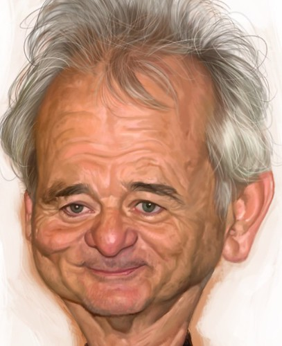 digital caricature of Bill Murray - 3