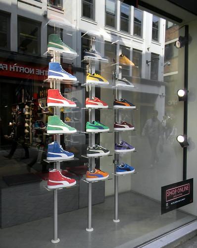 trainers multi coloured puma shop window Carnaby Street Street Soho london  25th March 2011 13  1c4d5e7c8b0c