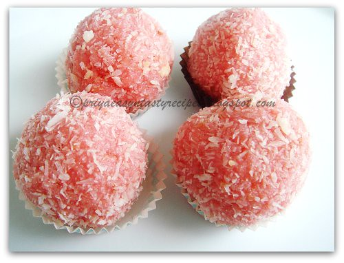 Rose coconut balls