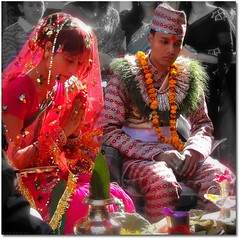 Nepalese Hindu Wedding ( Jamie Mitchell) Tags: nepal wedding groom bride dress traditional culture suit kathmandu nepalese hindu hinduism earthasia