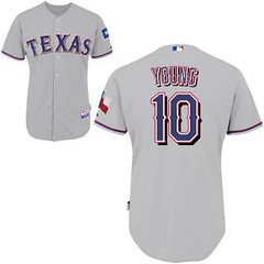 Texas Rangers #10 Michael Young Grey Road Jersey (Terasa2008) Tags: jersey texasrangers  cheapjerseyswholesale cheapmlbjerseys mlbjerseysfromchina mlbjerseysforsale cheaptexasrangersjerseys