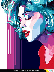 JOLIE in WPAP (Wedha's Pop Art Portrait) By Dimas