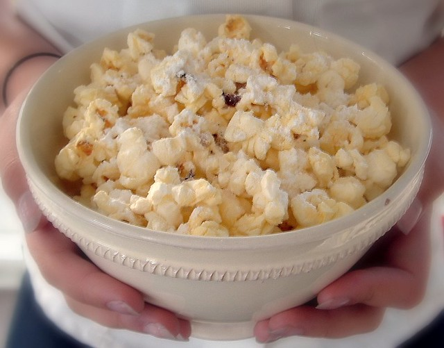 hot salty sweet popcorn