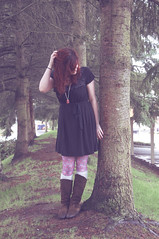 patterned_tights (madi_moon) Tags: pink flowers red brown black socks hair photography grey washington nikon dress boots tights redmond madi patterned d90 fritzke