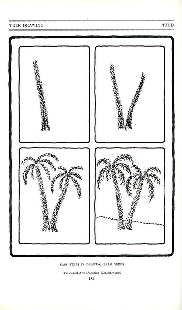 how to draw a palm tree_tatteredandlost