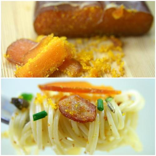 spaghetti with bottarga (mullet roe)
