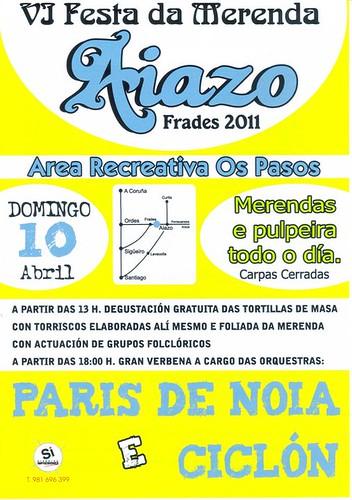 Frades 2011 - VI Festa da merenda en Aiazo - cartel