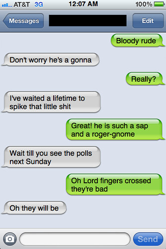 Txts from New York: Moira and Helen chat