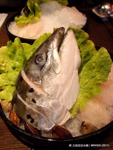 20110410 聚北海道昆布鍋_04 海鮮魚頭