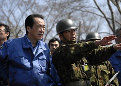 [Free Image] Society/Environment, Disaster, Politics, Japan Self-Defense Forces, Politician, Naoto Kan, Prime Minister of Japan, Japanese, 2011 Sendai Earthquake and Tsunami 201104190100