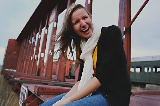 makyla_laughing_train