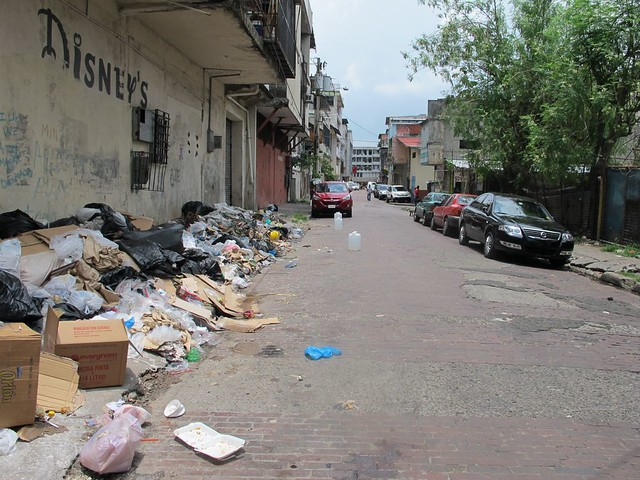 as forbidden as it is, the street is full of trash