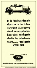 Ford LC-1931/08/24 - Ford geeft kwaliteit! (Arjan N / PE1GVK) Tags: old ford 1931 vintage magazine ads advertising rotterdam factory aircraft ad retro advertisement nv lincoln ilustration fabriek vintageadvertising nederlandsche fordson vintageads automobiel dutchmustang