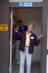 Mrs. Koch, following a rest-room inspection