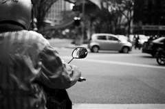 watching him watching (beardo creeps) Tags: blackandwhite bw film 50mm nikon f100 malaysia moto biker malaysian kl wanders beardocreeps
