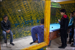Pool. Kairouan, Tunisia (Maciej Dakowicz) Tags: africa city people game pool ball table person cue tunisia young entertainment teenager maghreb medina billiards leisure snooker pastime kairouan