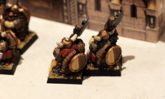 Quarreller Rangers - crossbow & shield on their back