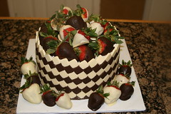 "Checker white and dark chocolate birthday cake • <a style=""font-size:0.8em;"" href=""http://www.flickr.com/photos/60584691@N02/5624945773/"" target=""_blank"">View on Flickr</a>"