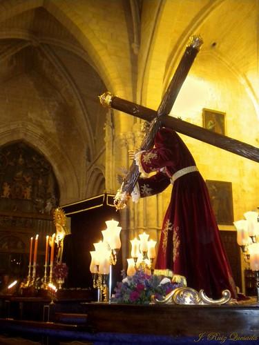 Jesús preparado para el traslado a Santa María...
