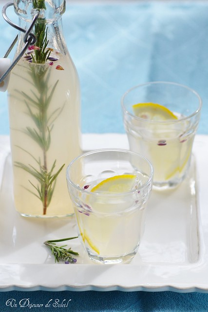 Lavender and rosemary lemonade