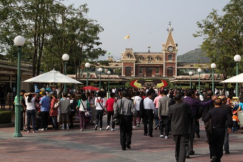 Hong Kong Disneyland soon after opening for the day