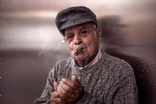 Street Faces - Old Smoker
