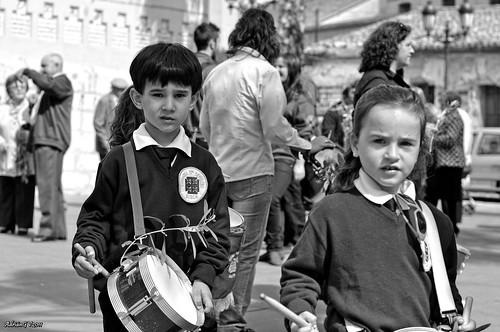Els xiquets en el diumenge de rams by ADRIANGV2009
