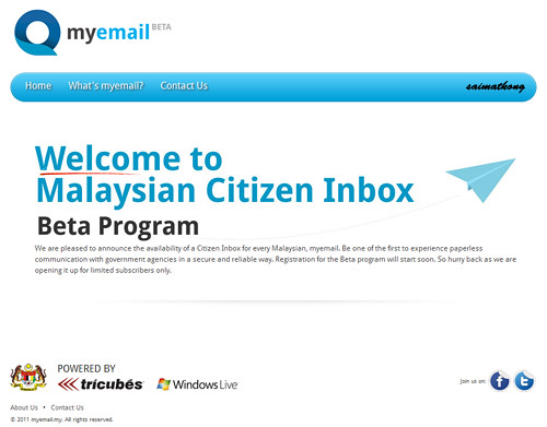 myemail.my 1Malaysia Email