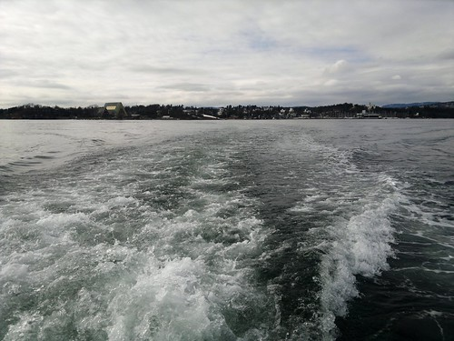 Leaving Bygdøy island by boat