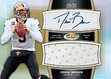 2011 Topps Finest Football Drew Brees Jersey Autograph Card