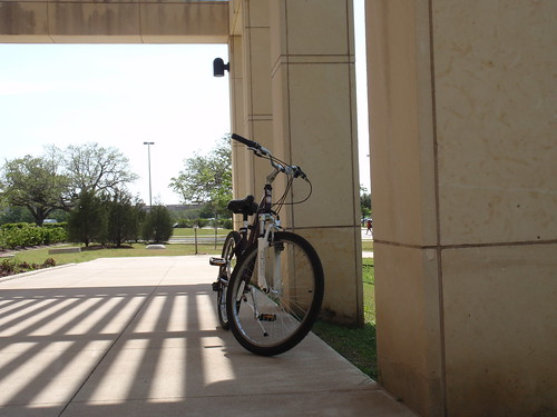 Bike Outside of Cool Bio Building