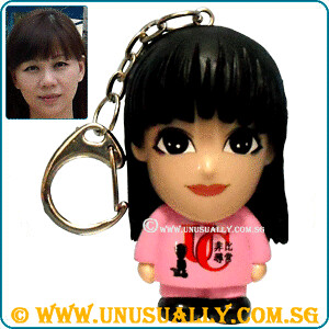 Custom Comic Cartoon Feel USB Cum Key Ring Mini Doll
