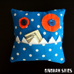 Teeth Eating Monster Pillow
