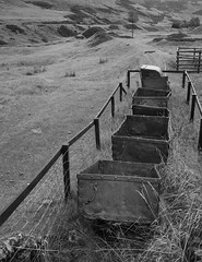 No future (steverichard) Tags: old abandoned grass scotland mine closed long sheep decay rail railway mining hills trucks lead deserted decaying wagons galloway ageing unloved wanlockhead steverichard srichardimages
