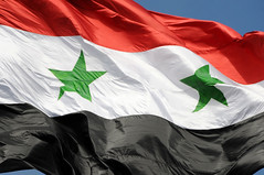 The flag of Syrian Arab Republic / Damascus, Syria (anji) Tags: middleeast syria damascus  dimashq